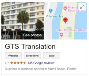 GTS Translation Google Reviews