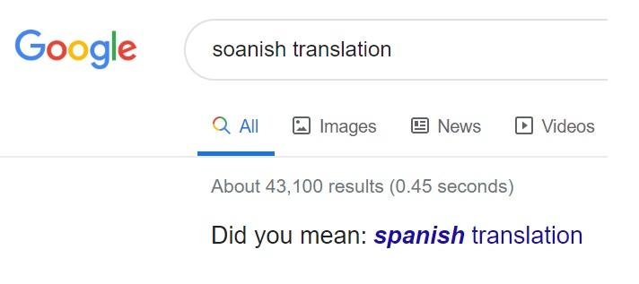 Soanish translation