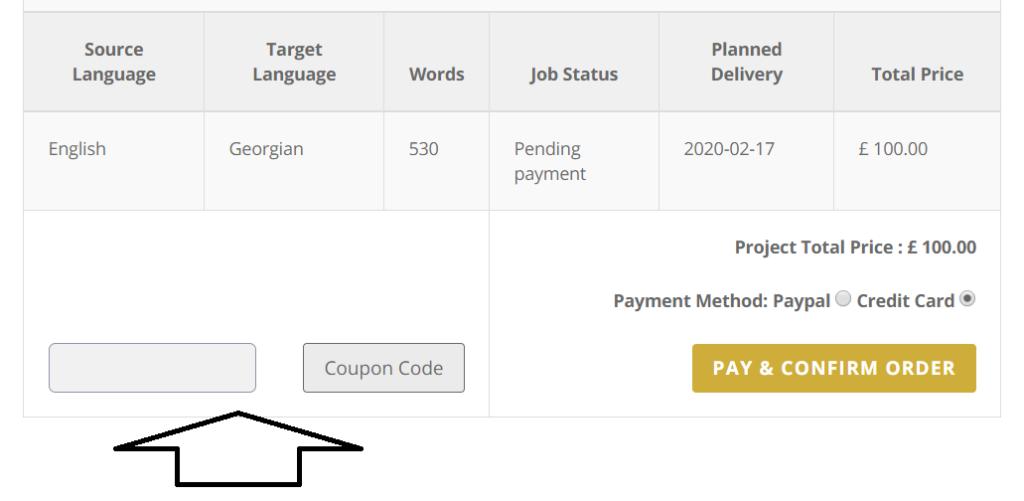 Translation service discounts